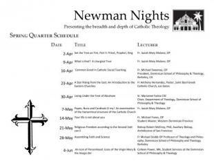 Newman Night: 2013 Spring Schedule